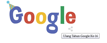 Happy Birthday 16th Google 27 September 2014.